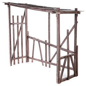 Cabaña madera desmontable 150x150x55 cm belén 120 cm s3