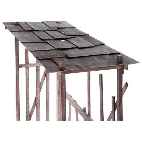 Cabaña madera desmontable 150x150x55 cm belén 120 cm 2