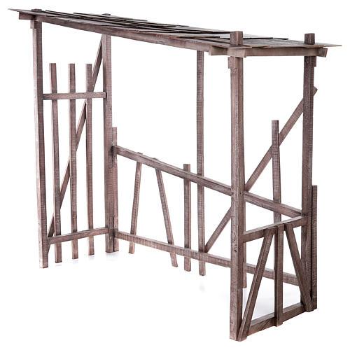 Cabaña madera desmontable 150x150x55 cm belén 120 cm 3