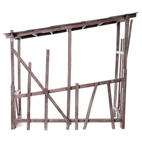Cabaña madera desmontable 150x150x55 cm belén 120 cm 7