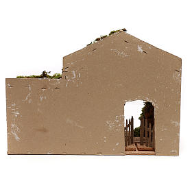 Stable with hay for Neapolitan Nativity scene of 8 cm s4