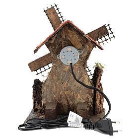 Moulin à vent mouvement 25x15x10 cm crèche napolitaine de 6 cm s4