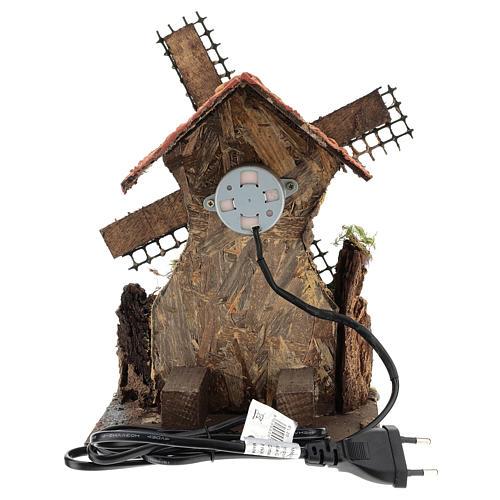 Moulin à vent mouvement 25x15x10 cm crèche napolitaine de 6 cm 4
