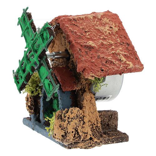 Cabane avec moulin à vent 10x5x5 cm crèche napolitaine 4-6 cm 2