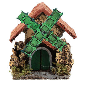 Farmhouse with windmill 10x10x5 cm for Neapolitan Nativity scene of 4-6 cm s1