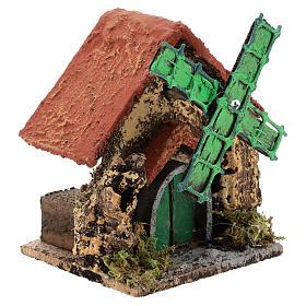 Caserío con molino de viento 10x10x5 cm belén napolitano 4-6 cm s3