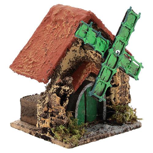 Caserío con molino de viento 10x10x5 cm belén napolitano 4-6 cm 3
