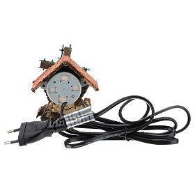 Maison avec moulin à vent en mouvement 10x5x5 cm crèche napolitaine 4-6 cm s4