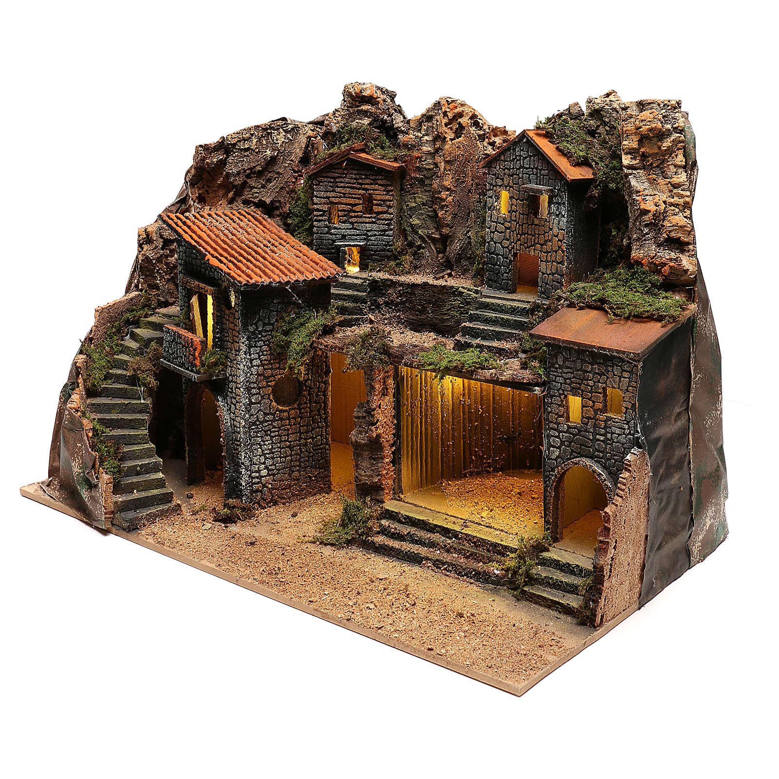 Village rustique pour crèche napolitaine de 12-14 cm 4