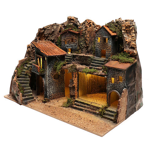 Village rustique pour crèche napolitaine de 12-14 cm 2