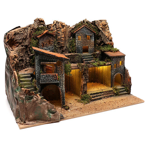 Village rustique pour crèche napolitaine de 12-14 cm 3
