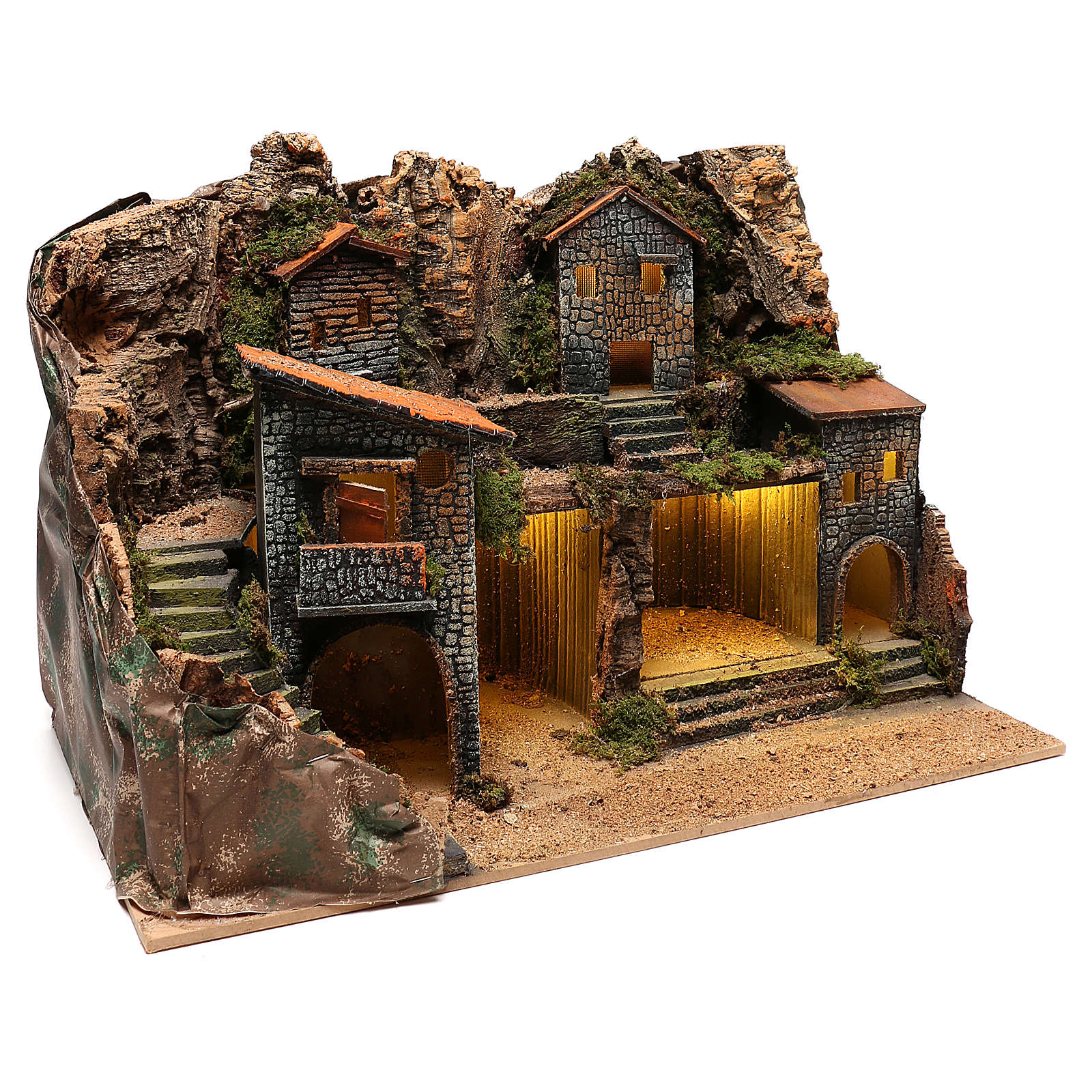 Borgo rustico per presepe napoletano di 12-14 cm 4