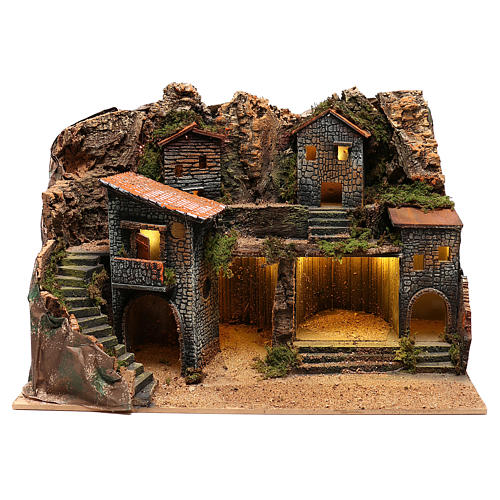 Borgo rustico per presepe napoletano di 12-14 cm 1