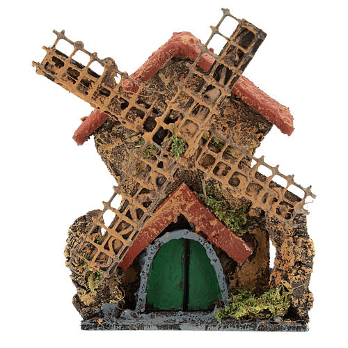 Moving mill 15x10x5 cm for Neapolitan Nativity scene of 6-8 cm 1