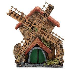 Moulin avec mouvement 15x10x5 cm crèche napolitaine 6-8 cm s1