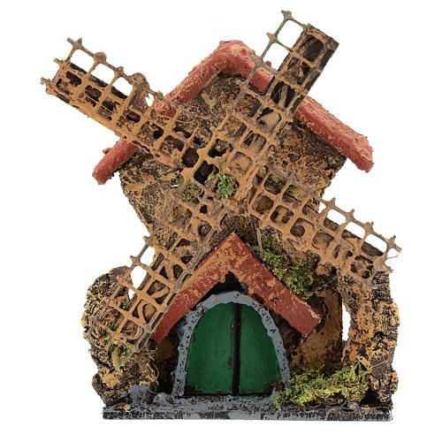 Moulin avec mouvement 15x10x5 cm crèche napolitaine 6-8 cm 1