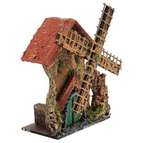 Moulin avec mouvement 15x10x5 cm crèche napolitaine 6-8 cm 3