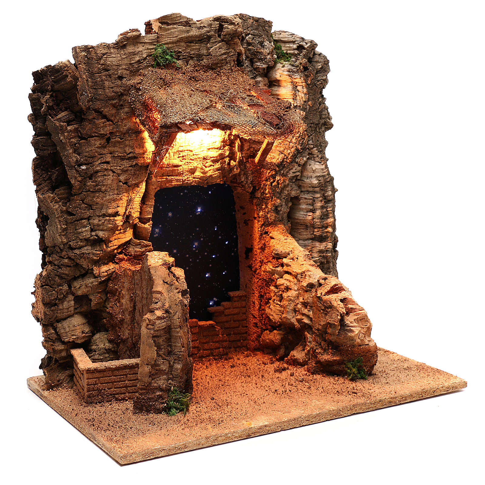 Rustic hut with sky background for Neapolitan Nativity scene of 10 cm 4