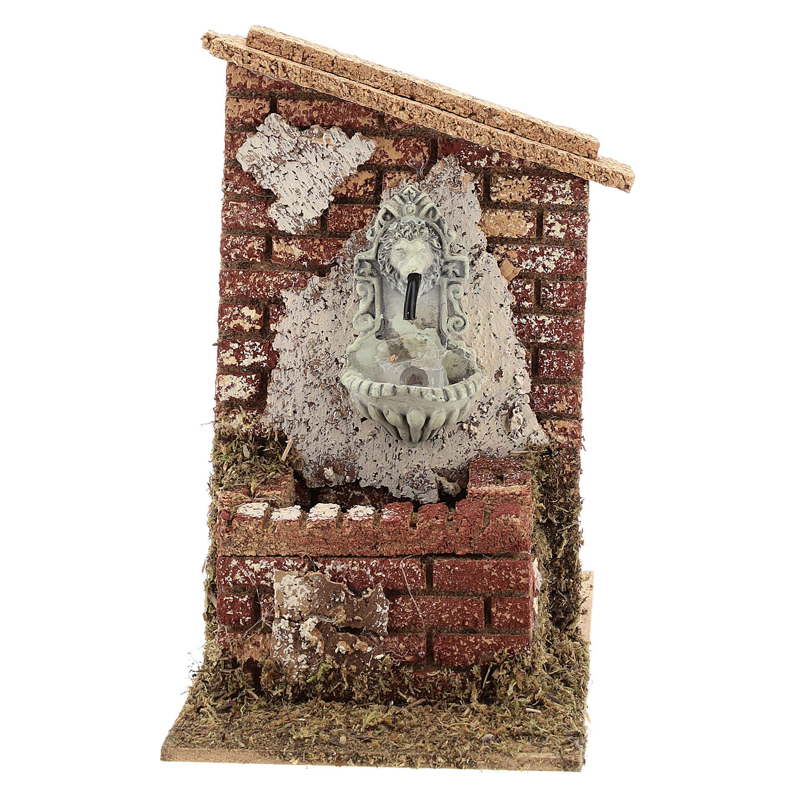 Nativity scene fountain with pump 15x10x15 cm for figurines 6-8 cm 4