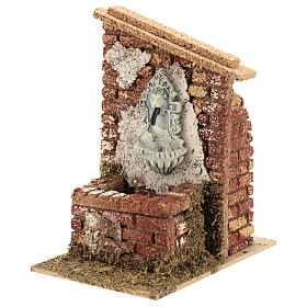 Nativity scene fountain with pump 15x10x15 cm for figurines 6-8 cm s2