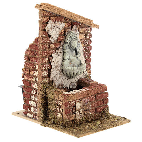 Nativity scene fountain with pump 15x10x15 cm for figurines 6-8 cm 3