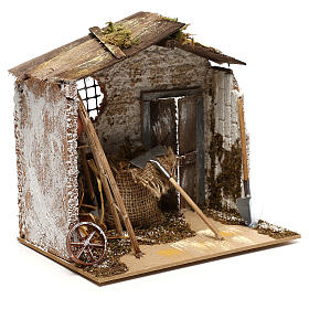 Hut with tools for Nativity scenes for figurines 8-10 cm s3
