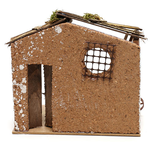 Hut with tools for Nativity scenes for figurines 8-10 cm 4
