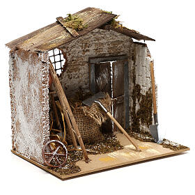 Miniature garden shed, for 8-10 cm nativity s3
