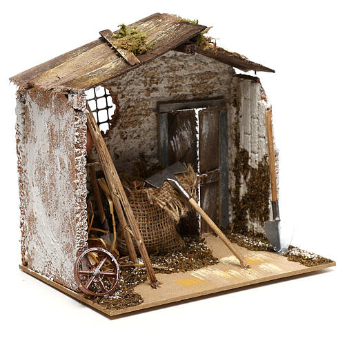 Miniature garden shed, for 8-10 cm nativity 3