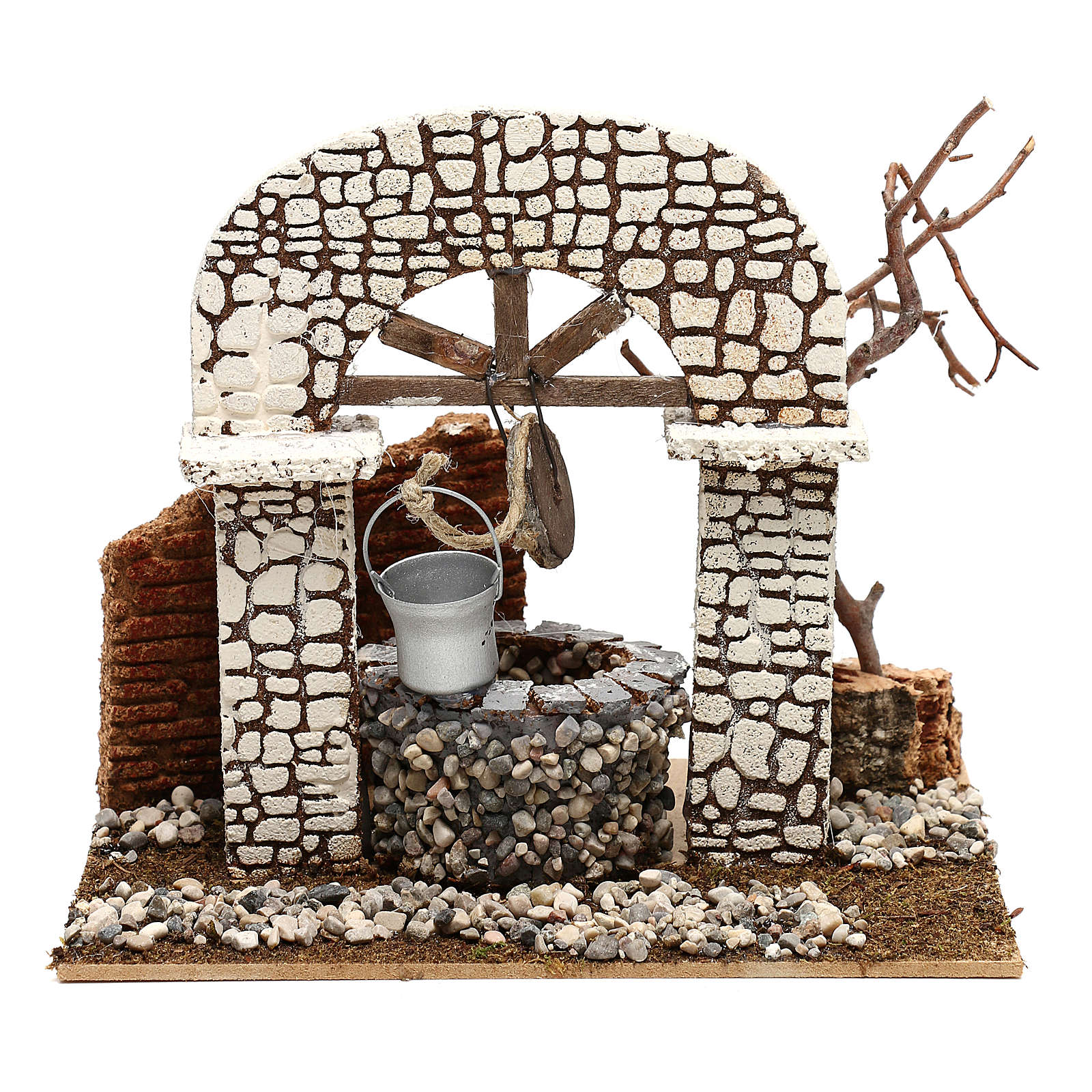 Well with bucket 15x20x20 cm for Nativity scene 8-10 cm 4