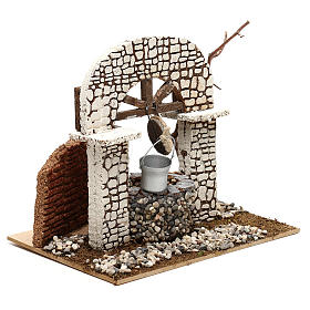 Well with bucket 15x20x20 cm for Nativity scene 8-10 cm s3
