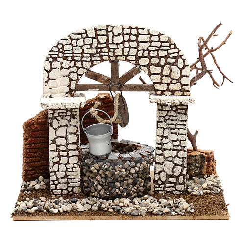 Well with bucket 15x20x20 cm for Nativity scene 8-10 cm 1