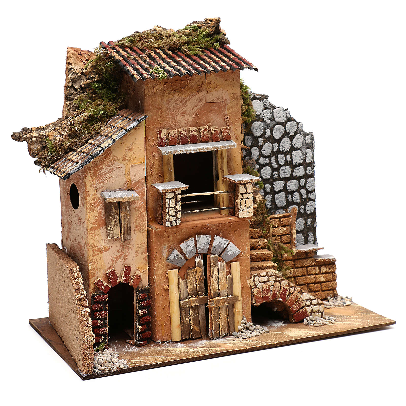 Cottage for Nativity scene 20x35x30 cm for figurines 4-6 cm 4