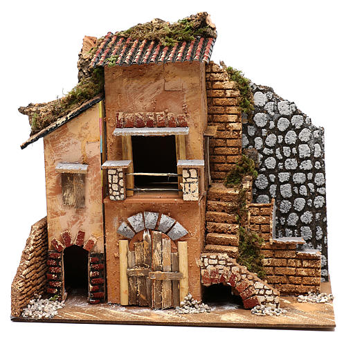 Cottage for Nativity scene 20x35x30 cm for figurines 4-6 cm 1