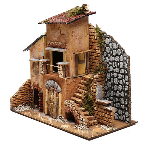 Cottage for Nativity scene 20x35x30 cm for figurines 4-6 cm 2