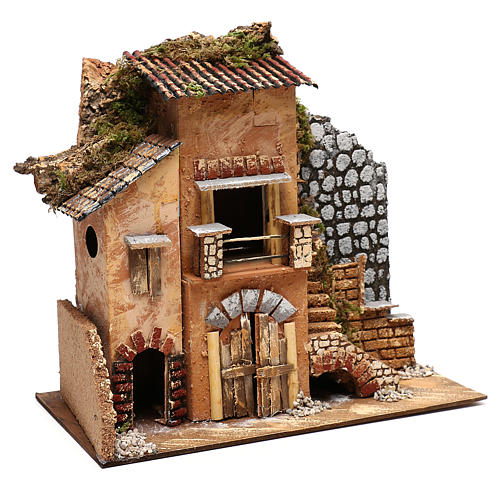Cottage for Nativity scene 20x35x30 cm for figurines 4-6 cm 3