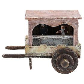 Carro madera titiritero belén 10 cm s1
