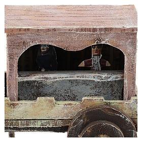 Carro madera titiritero belén 10 cm s2