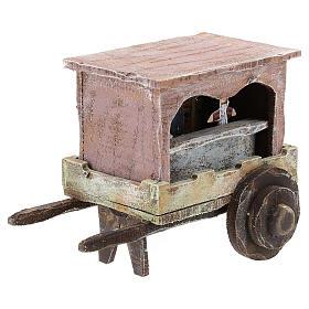 Carro madera titiritero belén 10 cm s3