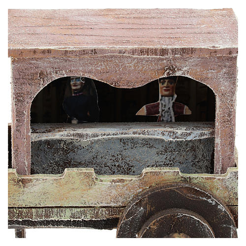 Carro madera titiritero belén 10 cm 2