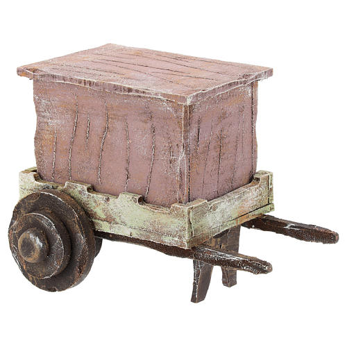 Carro madera titiritero belén 10 cm 4