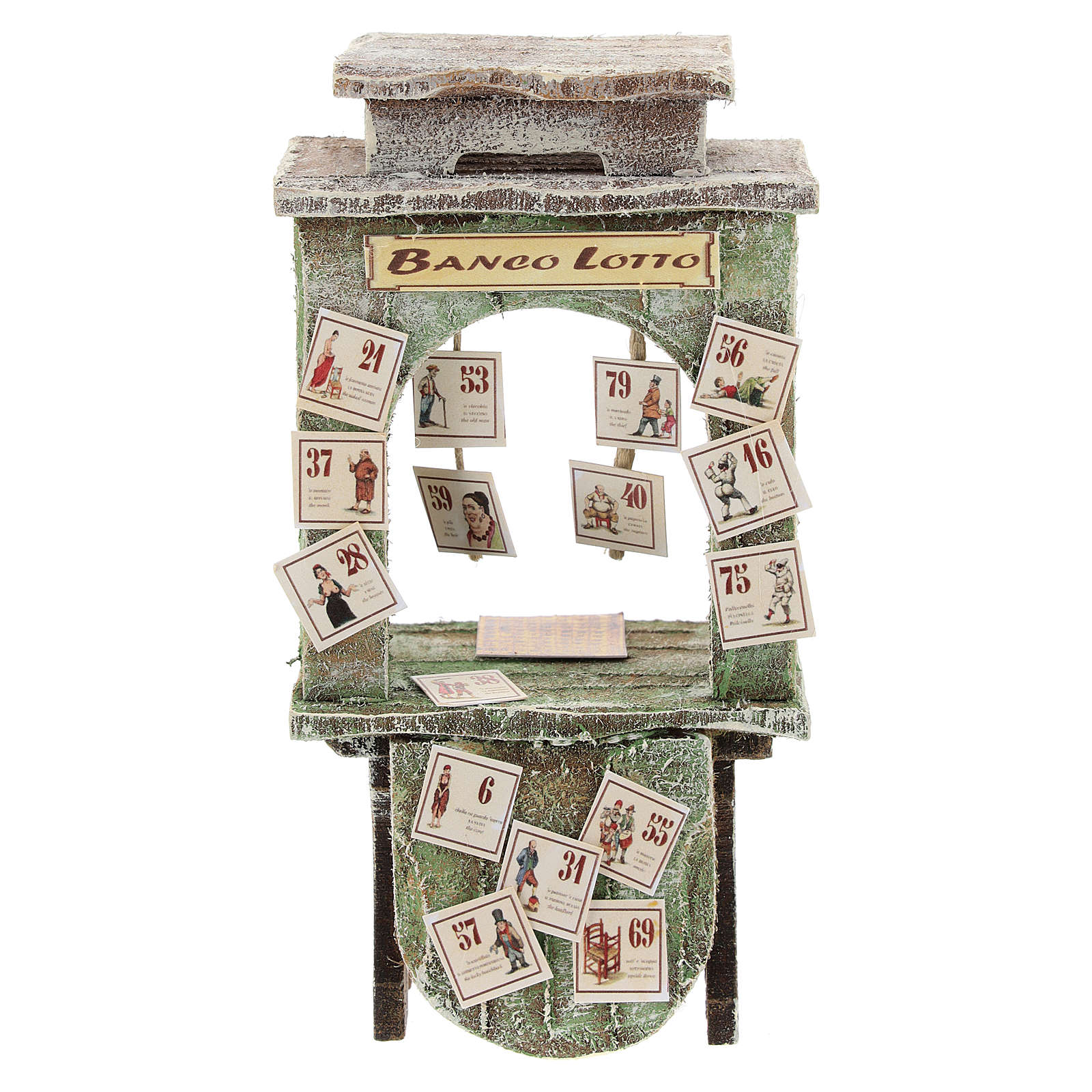 Kiosque du loto crèche 10 cm 4