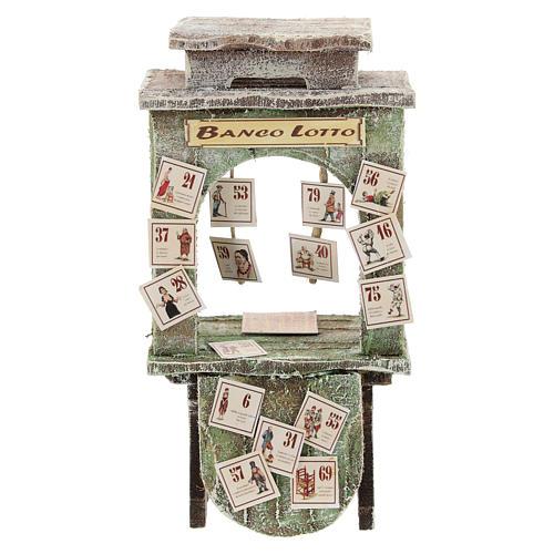 Kiosque du loto crèche 10 cm 1