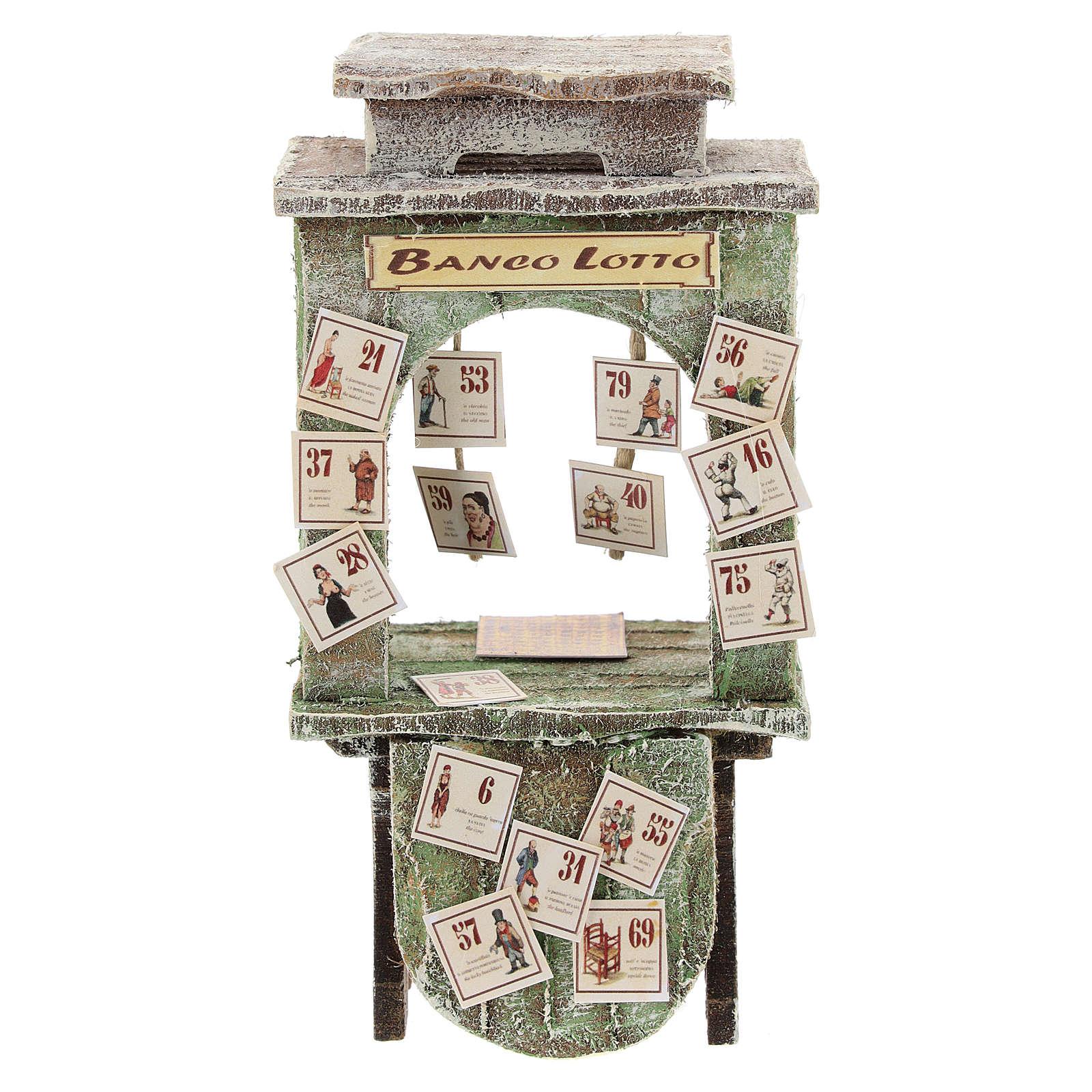 Banchetto del lotto presepe 10 cm 4