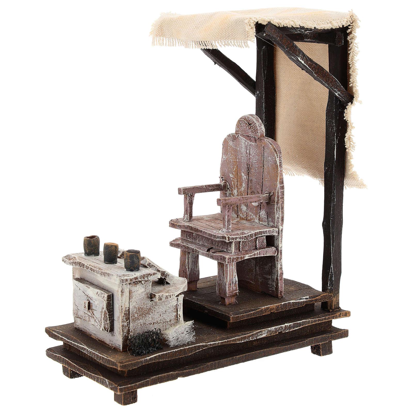 Escena limpiabotas con herramientas belén 12 cm 4