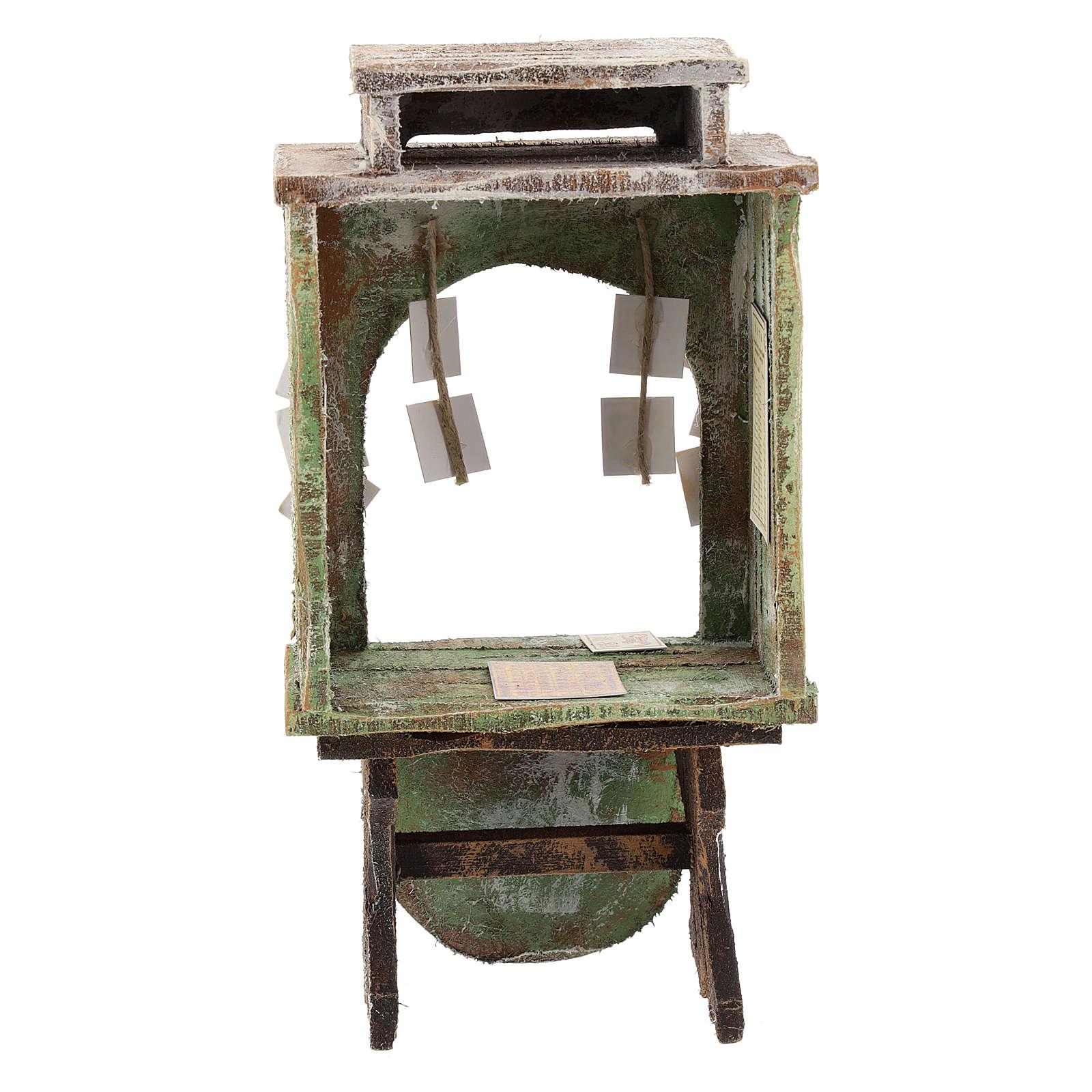 Tienda de la lotería madera belén 12 cm 4