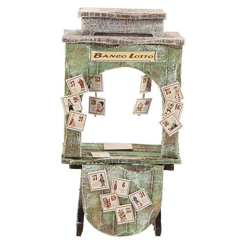 Tienda de la lotería madera belén 12 cm 1