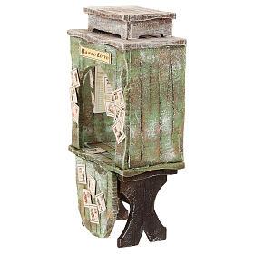 Kiosque du loto bois crèche 12 cm s2