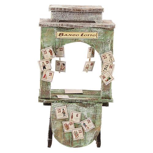 Kiosque du loto bois crèche 12 cm 1