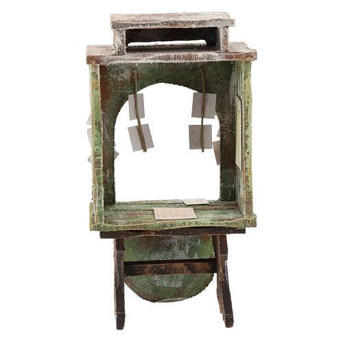 Kiosque du loto bois crèche 12 cm 4